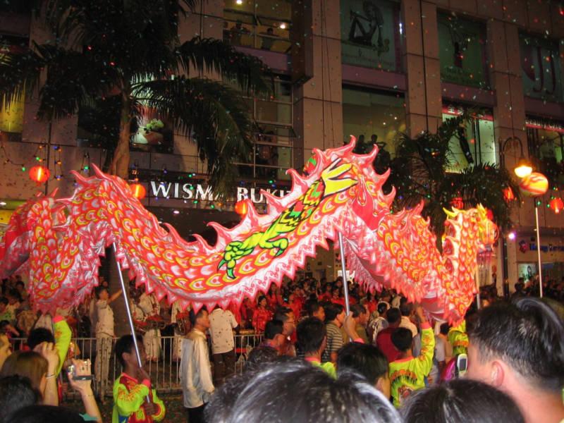 Chinesischer Drache in Kuala Lumpur – super gsi!