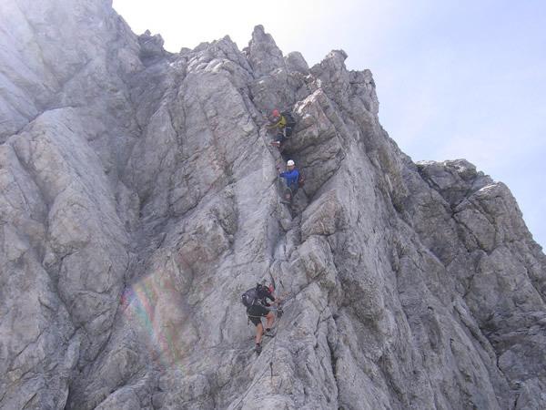 Klettersteig Uk : Von der ulmer hütte zum arlberger klettersteig u super gsi