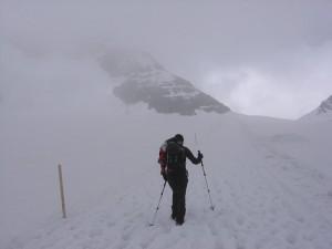 Anmarsch zur Mönchsjochhütte