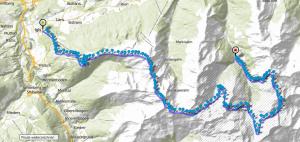 Streckenverlauf Edelweiss Raid 2013