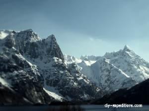 Geitgaljartinden, Lofoten Skitour Norwegen