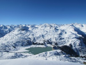 Kops-Stausee, Silvretta, vom Gipfel der westlichen Fluhspitze