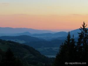 Rheintal in der Morgensonne