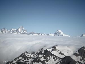 Blick vom Pizzo Cavergno auf das Finsteraarhorn