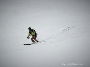 Abfahrt am Steigletscher