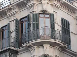 Balearen, Häuserfront, Fenster