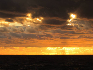 Himmel über dem Mittelmeer