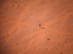 In der Wüste von Wadi Rum