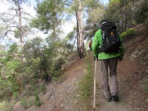 Wanderer auf dem E4 Zypern