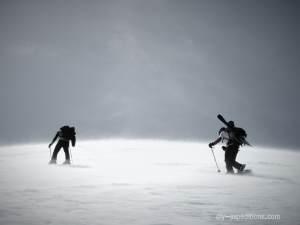 Back country skiing Himalaya